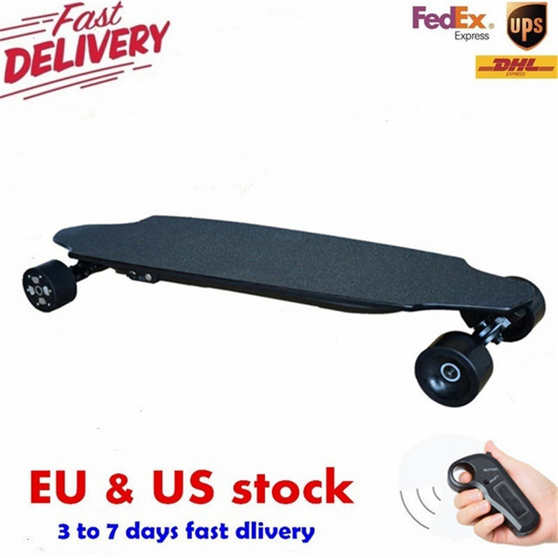 40KM/h 4 Wheel Electric Skateboard Dual Motor Remote Wireless Bluetooth Control Scooter Hoverboard Longboard 2017 new 4 wheels electric skateboard scooter 600w with bluetooth remote controller replaceable dual hub motor 30km h for adults
