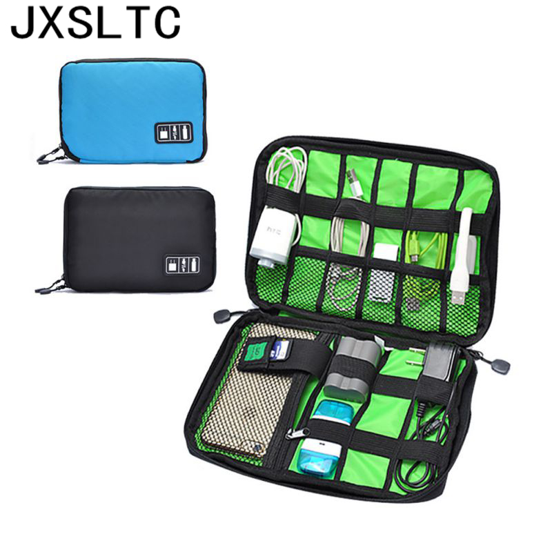 Electronic Nylon Accessories Bag For Hard Drive Organizers For Earphone Cables USB Flash Drives Travel Case
