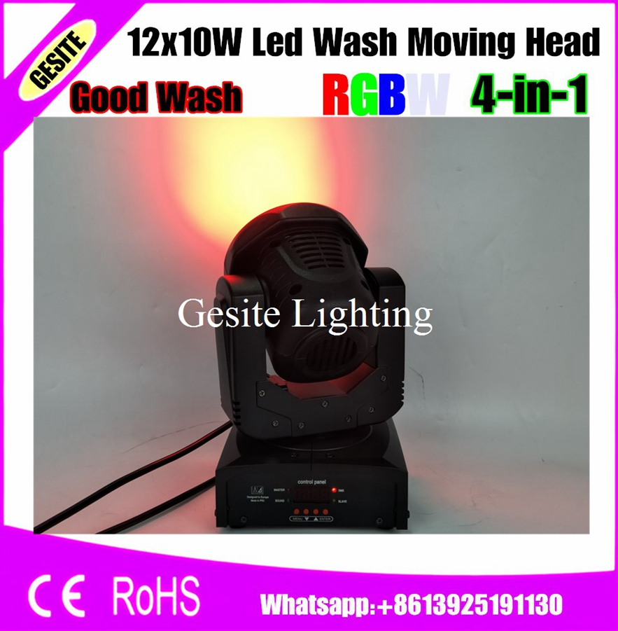 Lights & Lighting 4pcs/lot 12pcs*10w 4in1 Cree Led Moving Head Beam Light 13/17 Dmx Channels Wash Led Moving Head Effect