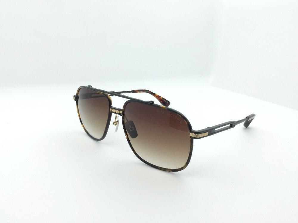 Nouvelle marque de luxe lunettes de soleil DT Riad hommes conception en métal vintage lunettes de soleil mode style petit cadre carré UV 400 lentille avec boîte