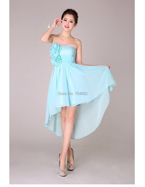 free shipping turquoise short design bridesmaid summer dress 2014 ...