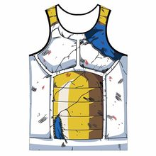 Mens Dragon Ball Z Vegeta Armor Tank Tops culturismo chaleco Fitness Tank Top Hipster 3D Anime camisetas tanques DBZ camiseta(China)