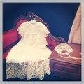 Floral vintage sheer lace beaded vestido de bautismo bendición vestido para bebé niñas traje de bautizo con el capo