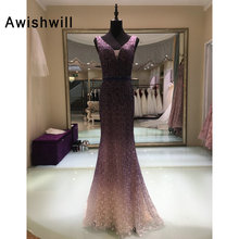 Awishwill Double Evening Dress 2019 Mermaid Prom Dress