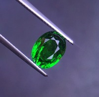 AGL Certificated 3.24ct Natural Vivid Green Tsavorite Gemstones Faceted Loose Stones Loose Gems