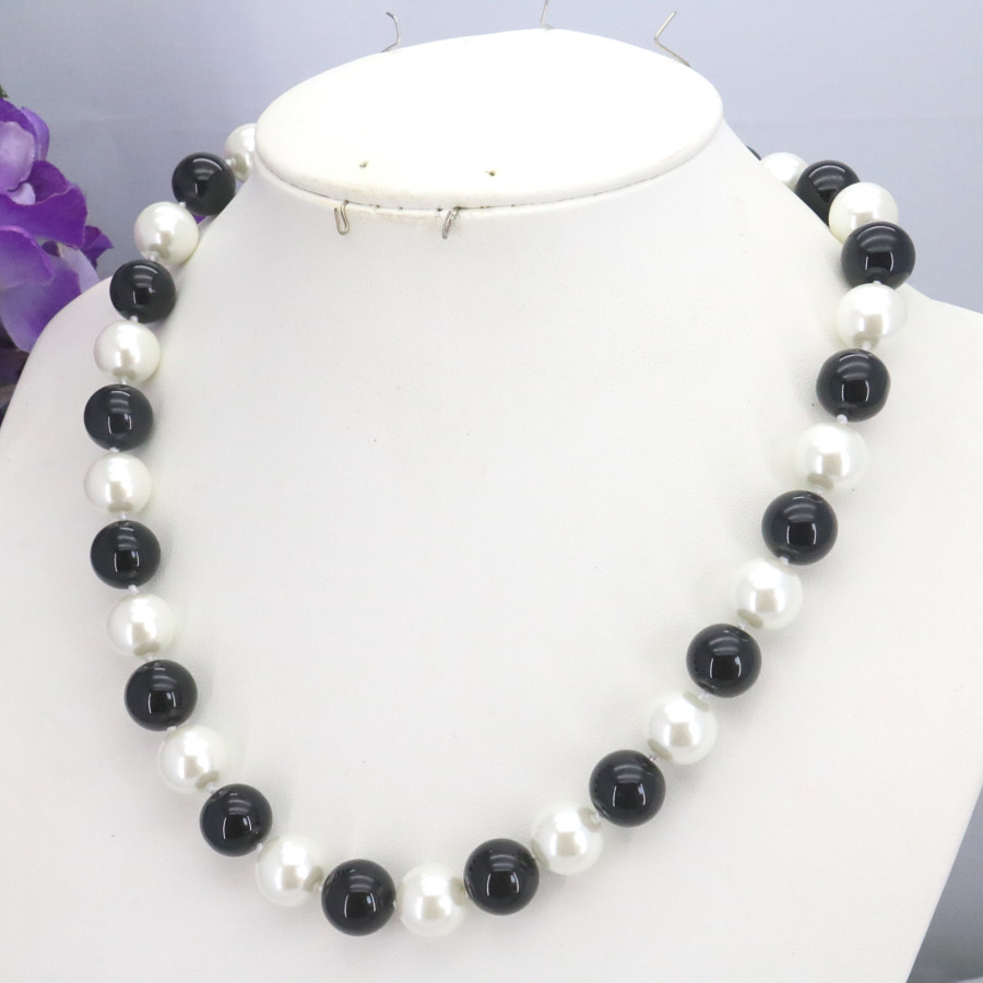 8-10mm White Akoya Shell Pearl Turkey Turquoise Beads Necklace Earrings Set gift