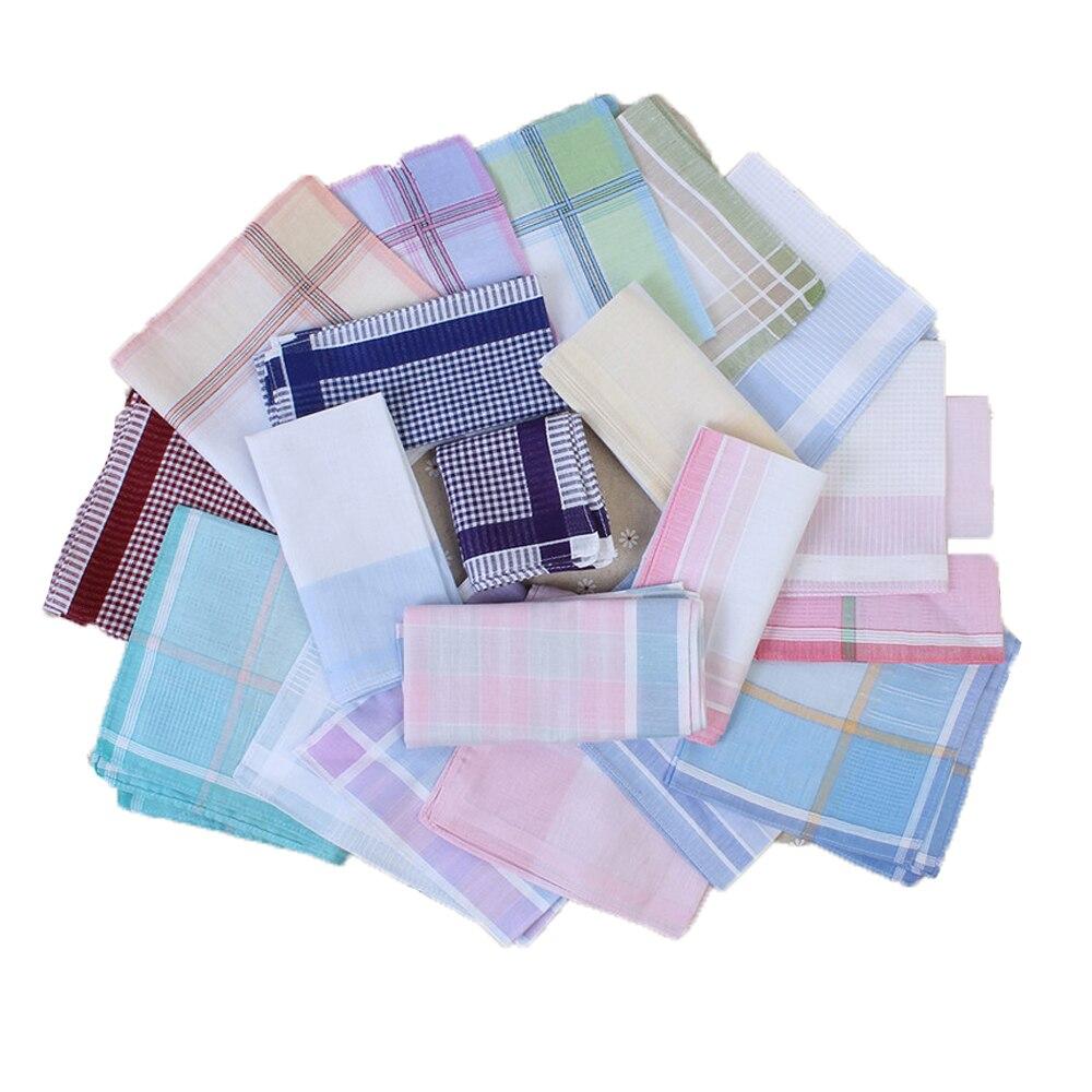 Handkerchiefs 6 Men 100/% Cotton 42cm Square White Centre Satin Border