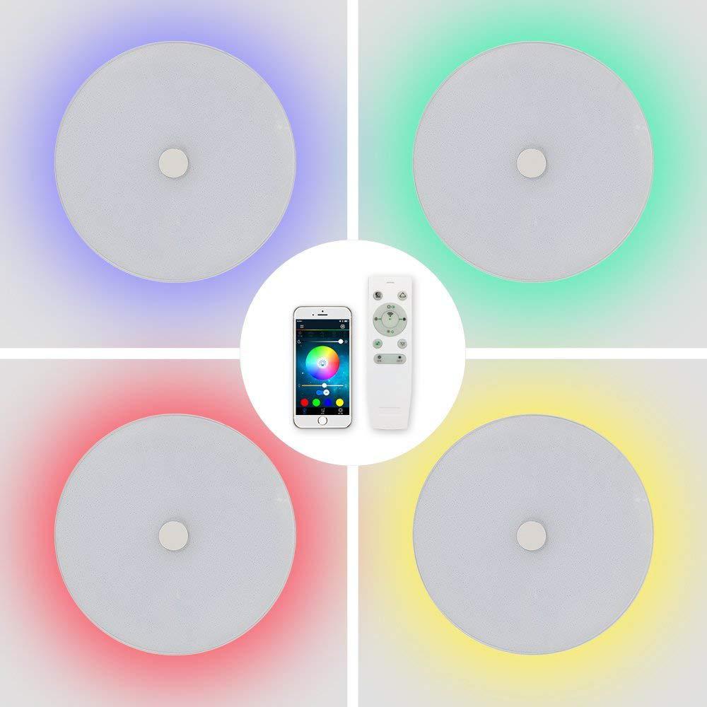LED 36 W/48 W Smart Voice APP Muziek Lichten Dimbare Plafond Verlichting Afstandsbediening Plafond Verlichting Slaapkamer Verlichting - 4