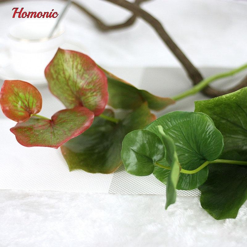5PCS vihreä perhonen keinotekoiset lehdet kasvi silkki kukka häät - Tavarat lomien ja puolueiden - Valokuva 3