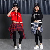1 set Children Party Dance Costumes Jazz Sequined hip hop Dancing Outfits Kids Modern Dancewear Performance Stagewear Outfits