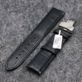 18/20/22mm Genuine Leather Wrist Watch Band Women Men Watches Replacement Wristwatch Strap   Black/Brown PD0132-3