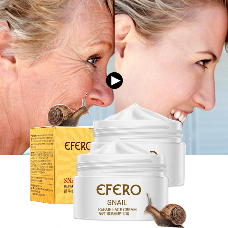 EFERO Snail Face Cream Anti-wrinkle Firming Anti Aging Anti Acne Scar Whitening Face Cream For Face Skin Care Moisturizing Cream