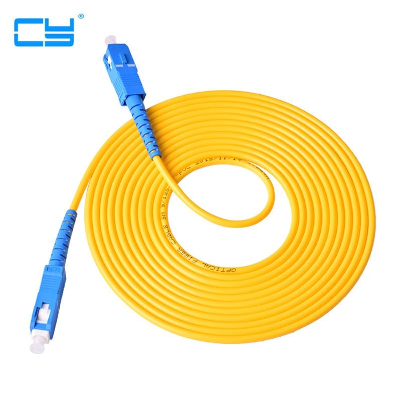 10pcs/lot SC-SC single core fiber jumper fiber optic cable 3 meters SC pigtail Optical fiber connecting tool 3M 300cm [sa]bamboo fiber optic lines in frs2053 2pcs lot