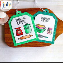 Julyarts 12PCS/LOT Scrapbooking Stamps and Dies for Card Making Cutting New Cookware Sets Photo Album Decor