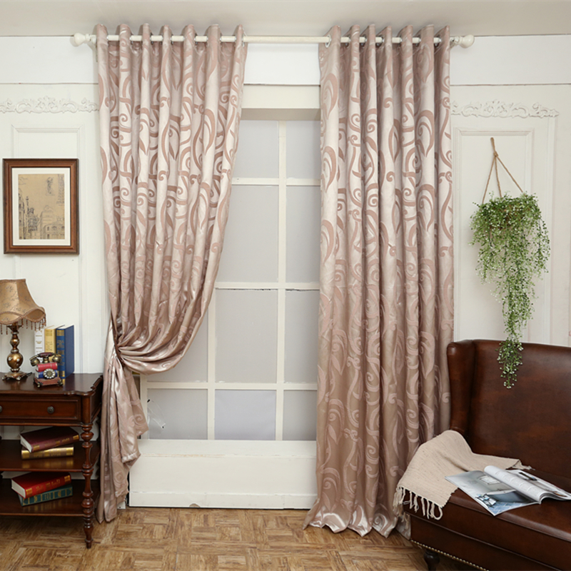 Free Shipping Semi Blackout Curtains Blind Jacquard Modern Design Window Trea