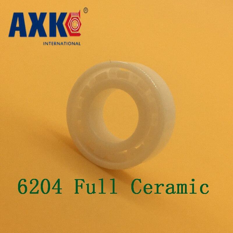 2018 Rolamento Rolamentos Axk 6204 Full Ceramic Bearing ( 1 Pc ) 20*47*14 Mm Zro2 Material 6204ce All Zirconia Ball Bearings