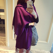 Фотография 190*65cm hot selling 2016 cashmere women scarf national wind tassel scarf brand shawls and scarves winter scarf skyour