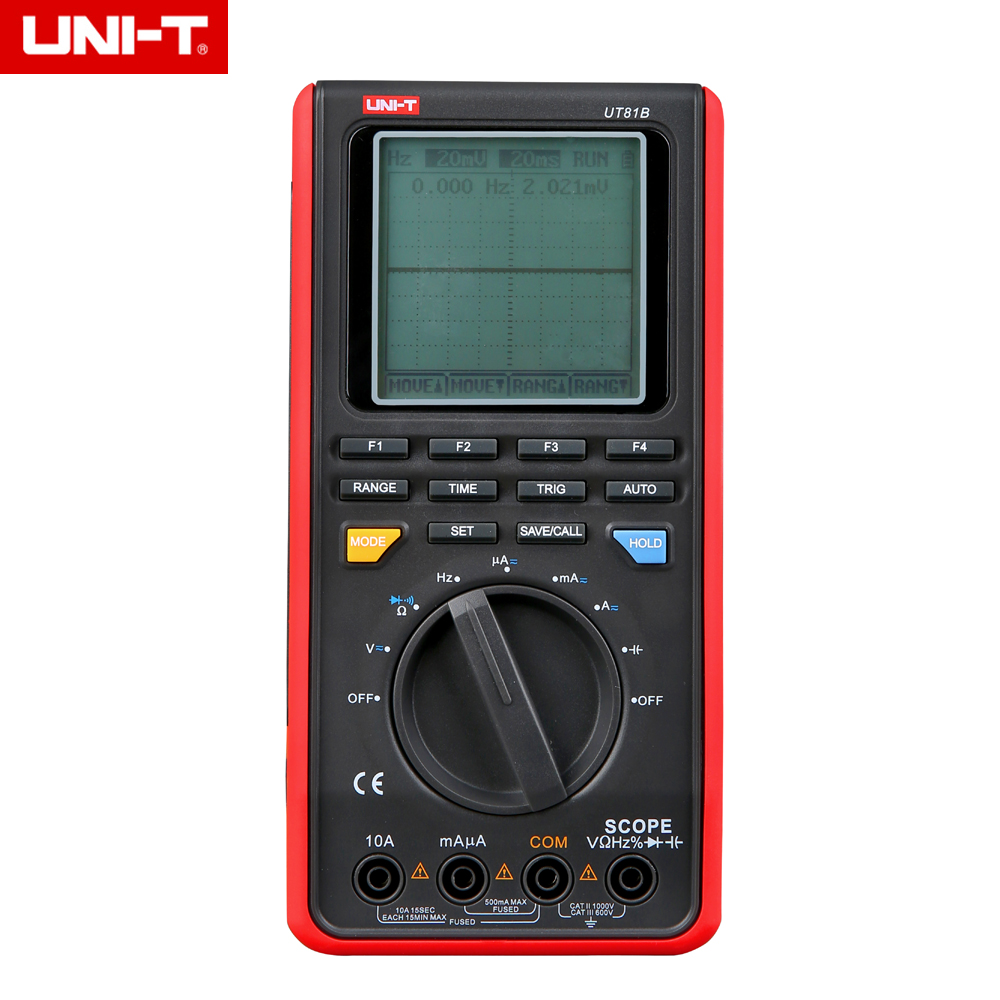 UNI-T UT81B <font><b>10MHz</b></font> 40MS/s, UT81C 80MS/s Real-Time Sample Rate Handheld LCD Scopemeter <font><b>Oscilloscope</b></font> Digital Multimeter image