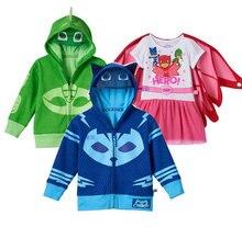 2017 nouvelle arrivée Chaude Garçon Costume Pour enfants Catboy Bleu Zip-Up Costume À Capuche halloween carnaval costume enfants Enfants vêtements