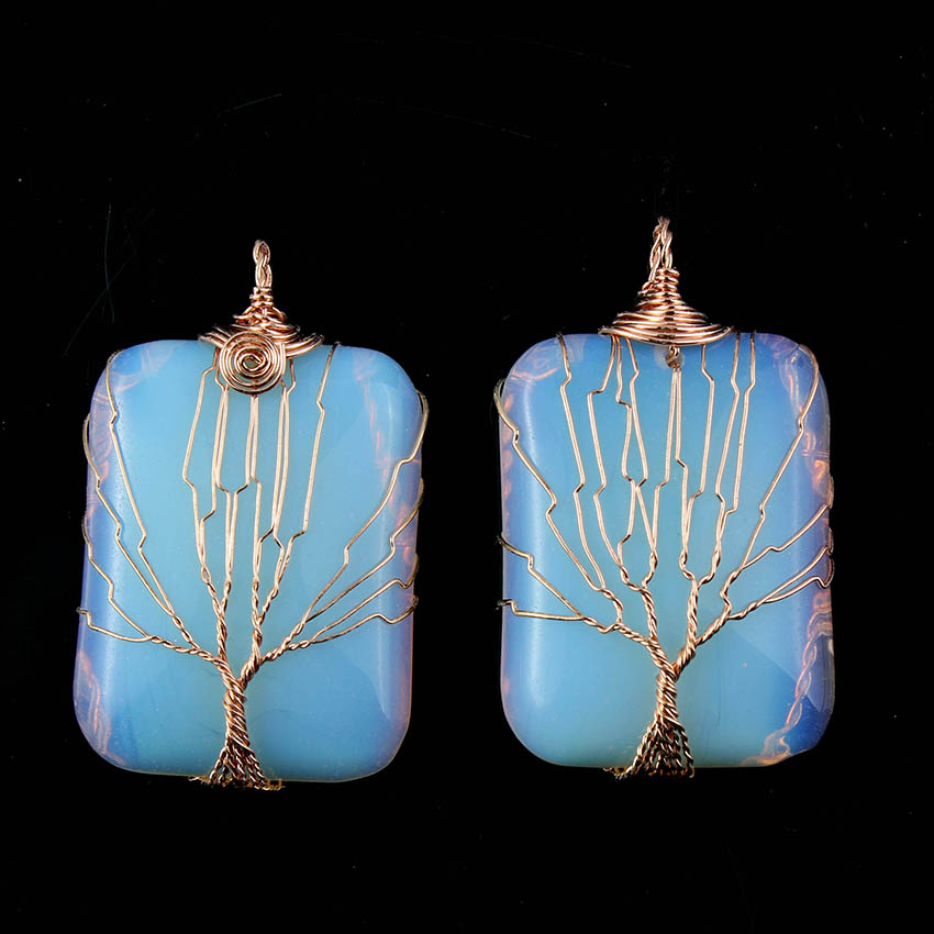 Kraft beads Rose Gold Color Trendy Opalite Opal Stone Handmade Wire ...