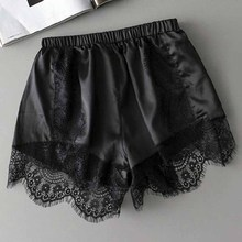 Summer Women Satin Silk Sleepwear Bottoms Shorts 2018 Ladies