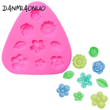 DANMIAONUO Food Grade Flower leaf Molds For Cakes Silicone Lace Mat Soap Mold Lollipop Baking Cake A1141
