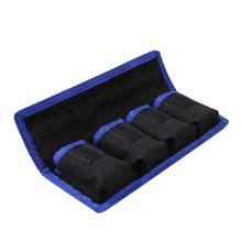 Meking Nylon Batteria Sacchetto di Immagazzinaggio Del Sacchetto Tasche Del Sacchetto Impermeabile con 4 Del Sacchetto per LP E6/8/NP FW50 EN EL14/15
