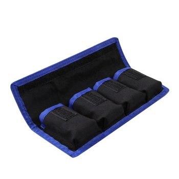 Waterproof Battery Storage Bag 4 Pouches For LP-E6/LP-E8/NP-FW50/EN-EL14/EN-EL15