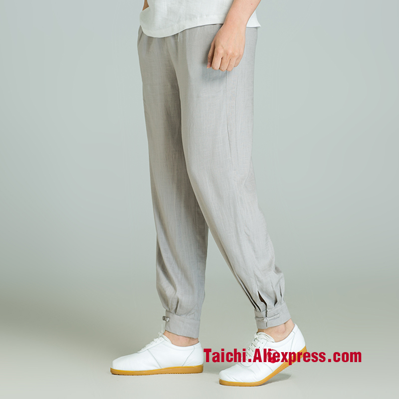 Tai Chi Pants Martial Art Trousers Gray Black Colors Free Shipping