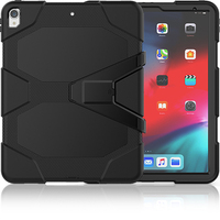 3 in 1 Protection Silicon Shockproof Hybrid Case Cover with Kickstand for Apple iPad Pro 12. 9 2018 Released Tablet PC Cover+Pen