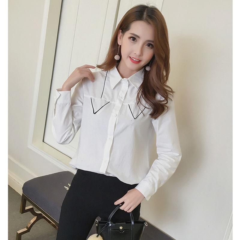 Chemise Femme White Blouse Women Cotton Shirts Summer New Fashion Office Blouses Feminino Long Sleeve Clothes Camisetas y tops
