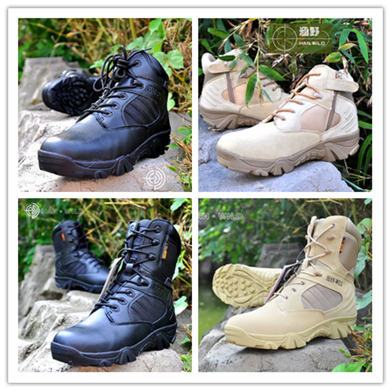 Bottes tactiques militaires d'automne et d'hiver de haute qualité chaussures hommes bottes de combat du désert en plein air bottes en cuir pour hommes