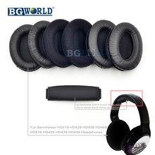 2086bf9007b BGWORLD Kulak pedleri yastık earpads kafa bandı köpük kapak Sennheiser  HD418 HD428 HD438 HD448 HD 419