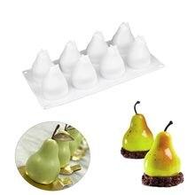Moule à gâteau en Silicone 3D en forme de poire, pour Mousse, bougie, truffe, mastic, cuisson, pâtisserie, confiserie