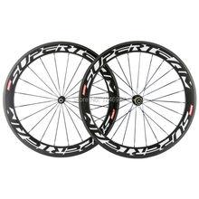 Superteam углеродное колесо 60 мм карбоновый клинчер комплект колес для шоссейного велосипеда колеса 23 мм ширина велосипедные Угловые колеса