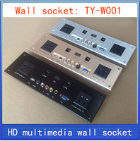 Wall Socket HD HDMI Video Audio VGA NETWORK RJ45 Information Outlet Panel Multimedia Home Hotel Rooms