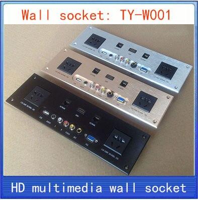 wall socket HD HDMI font b Video b font font b audio b font VGA NETWORK