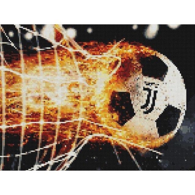 Huacan Diamond Painting Full Square Football Diamond Embroidery Cross Stitch Cartoon Diamond Mosaic Soccer Wall Sticker