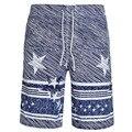 2016 Nuevas Llegadas de los hombres cortos de la playa ocasional de los hombres ropa pantalones cortos de la marca de impresión hombres Moda pantalones cortos Traje de Baño
