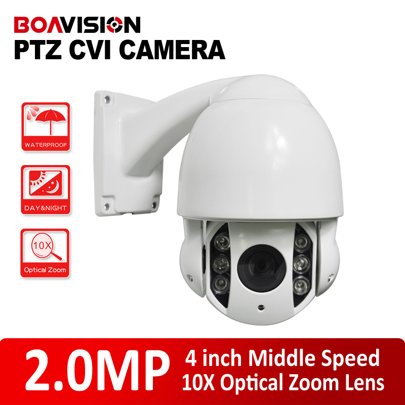 2MP PTZ Dome HDCVI Camera Middle Speed IR 60m Night-Vision Outdoor HD CVI For 1080P CVR DVR, 10X Zoom Free Bracket,Metal housing 7 ptz middle high speed dome camera 1080p full hd 33x zoom ir 120m infrared night vision 4 in 1 hd ahd tvi cvi signal output