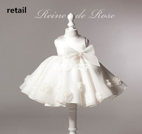 Retail 2016 New Girl Wedding Dresses Bow Performance Dress The Flower Girl Dress 2 8Y 2050