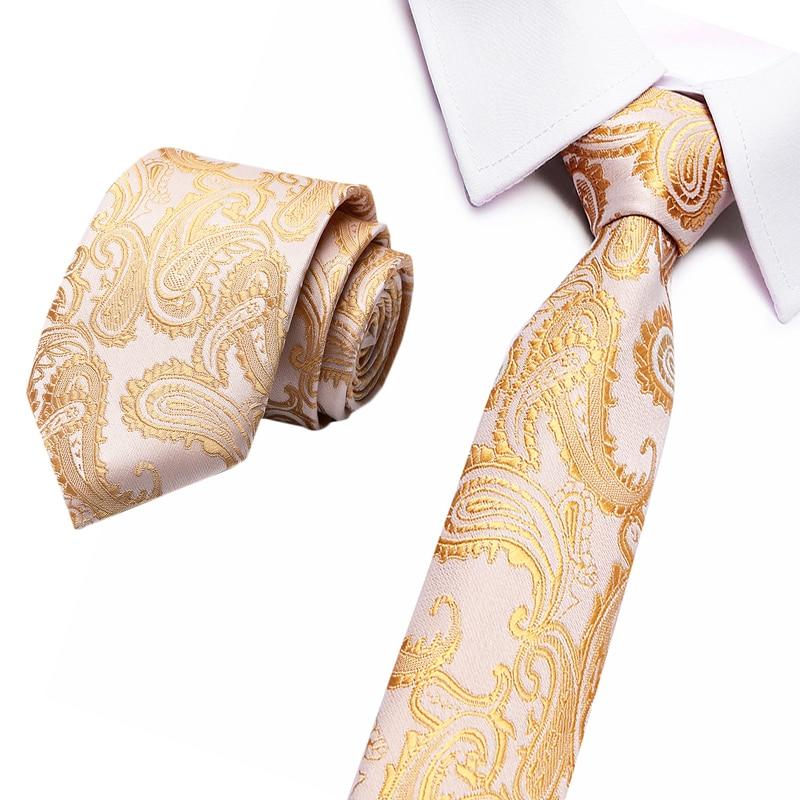 Vangise Gold paisley  Polka Dots Necktie Men's Striped Tie For Wedding Groom Neck Tie Polyester Corbata Gravata Vestidos Cravats