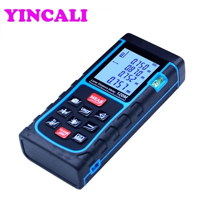Bonne qualité télémètre Laser SW-E120 télémètre Laser numérique 120 M mesure Distance/surface/volume M/Ft/in télémètre