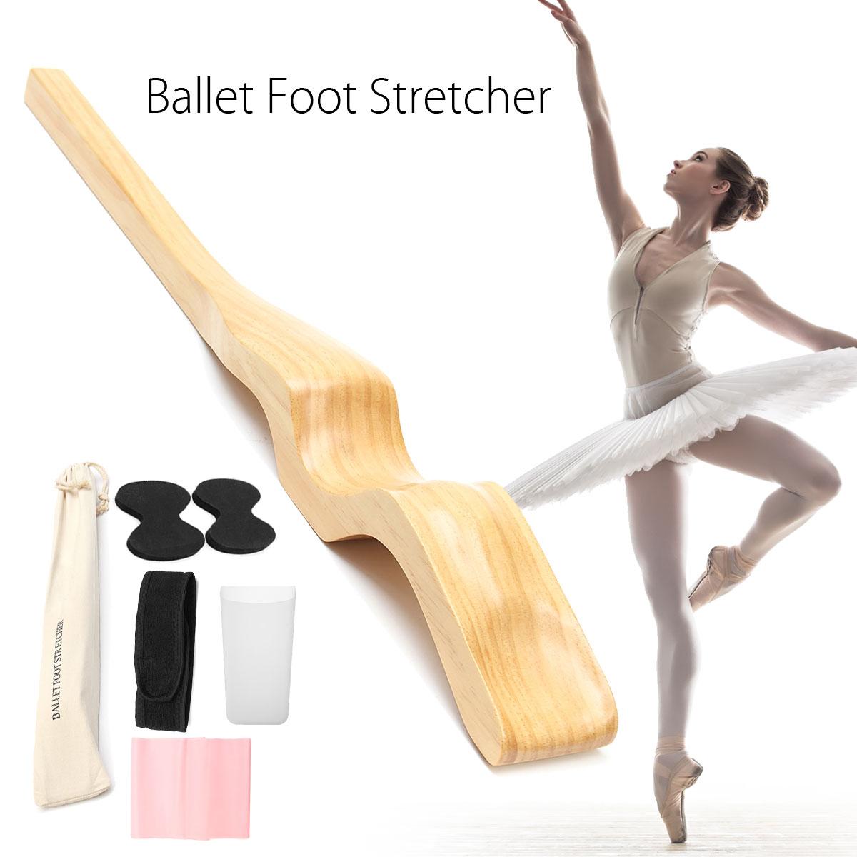Bout droit de pied de Ballet de femme pour le Massage de danseur, renforceur en bois d'arc de danse de Ballet en bois avec la courroie élastique de Tension pour le Yoga