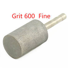 16-25mm grit 600 cabeça de moagem do diamante do cilindro do bocado giratório jade carving rebarbas ilovetool
