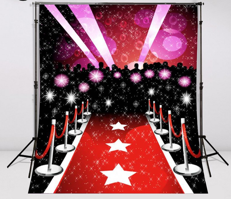 Red Carpet Paparazzi Hollywood Celebrity photo studio background Vinyl cloth High qualit ...