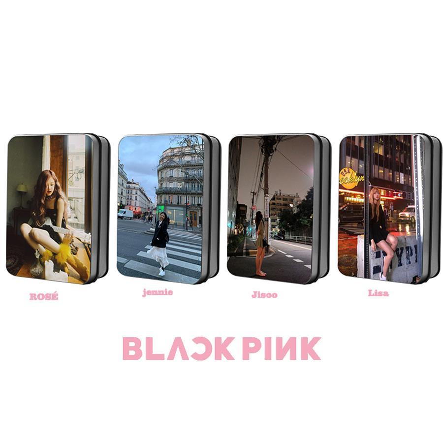 Kpop Blackpink Members Polaroid Lomo Photocard Lisa Jisoo Rose Jennie Collective Cards Poster 40pcs/set