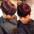 # 99J Moda Cabelo Humano Tecelagem Para As Mulheres Negras Aliexpress Fantasia Curta Reta Pedaços de Cabelo 28 Pcs Brasileiro Virgem Humano cabelo