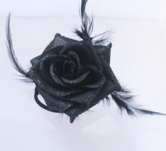 2017 Black Big Rose Flower Headbands font b Women s b font Hair font b Accessories