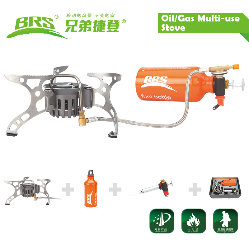 BRS-8 Portable Oil/Gas Multi-Use Stove Camping Stove new type free shipping oil gas multi use stove cooking stove camping stove brs 12a